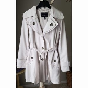 London Fog Hooded Trench Pea Coat